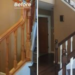 Staircase Refinishing Before After